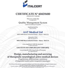 Certificato di garanzia di qualità